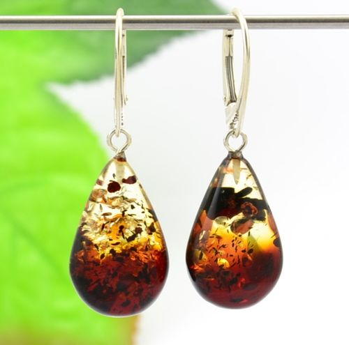 Amber Earrings Made of Precious Healing Baltic Amber