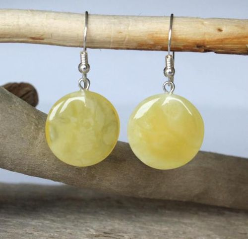 Amber Earrings Made of Amazing Butterscotch Baltic Amber