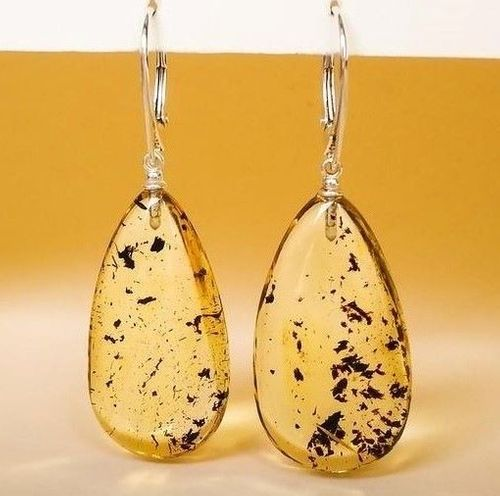 Clear Lemon Amber Earrings Made of Precious Baltic Amber