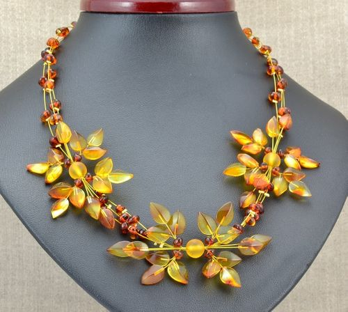Amber Flower Necklace - SOLD OUT