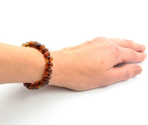 Amber Healing Bracelet Made of Cognac Baltic Amber
