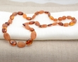 Amber Necklace Made of Raw and Polished Healing Amber