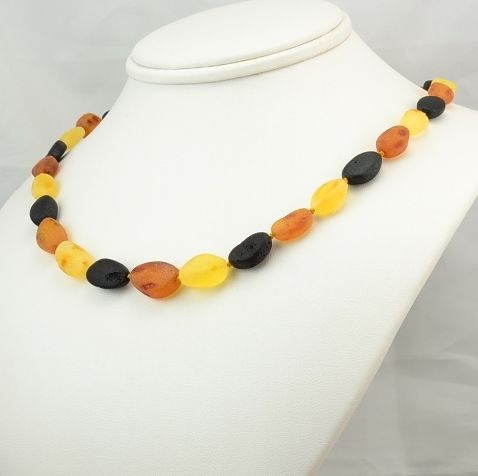 Amber Necklace Made of Raw Healing Baltic Amber