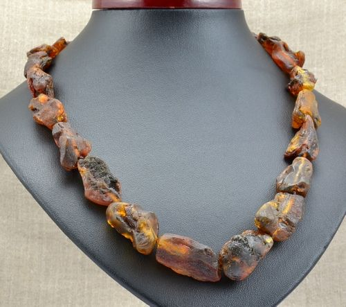 Amber Necklace Made of Healing Matte Baltic Amber