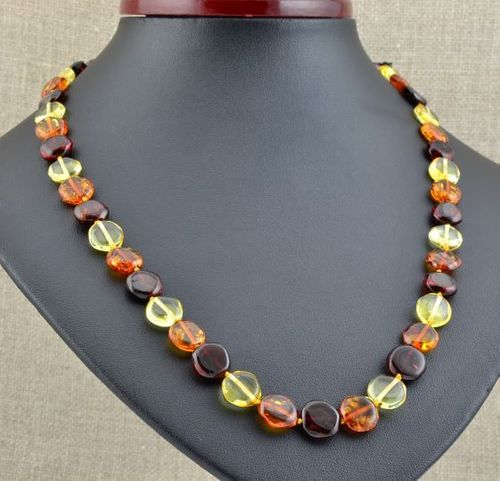 Amber Necklace Handmade of Amazing Healing Baltic Amber
