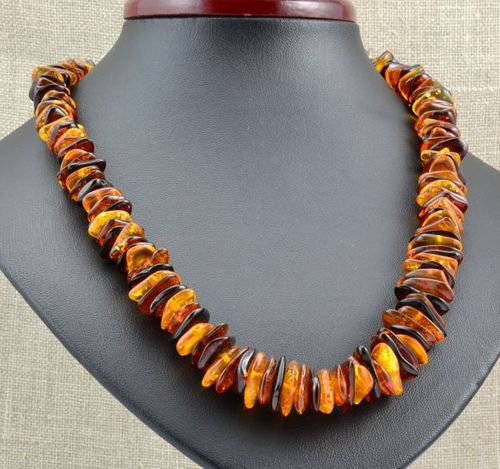 Amber Chip Necklace Made of Amazing Healing Baltic Amber