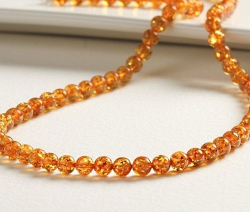 Amber Necklace Made of Honey Amazing Healing Baltic Amber