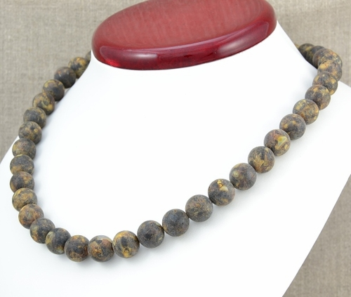 Amber Necklace with Matte Baltic Amber - SOLD OUT