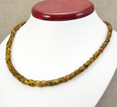 Amber Necklace with Overlapping Baltic Amber Pieces
