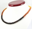 Rainbow Amber Necklace with Overlapping Baltic Amber Pieces