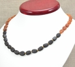 Rainbow Amber Necklace with Raw Baltic Amber