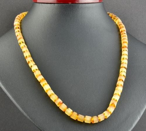 Amber Necklace Made of Matte Baltic Amber