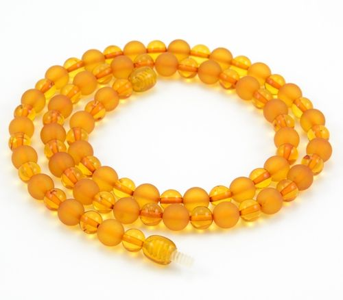 Amber Necklace with Matte and Polished Healing Amber