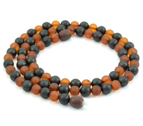 Amber Necklace with Matte Healing Amber