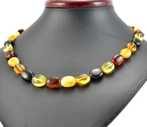 Amber Necklace Made of Healing Multicolor Amber
