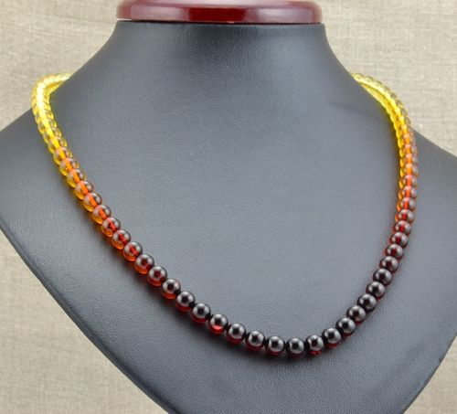 Rainbow Amber Necklace Made of Amazing Healing Baltic Amber