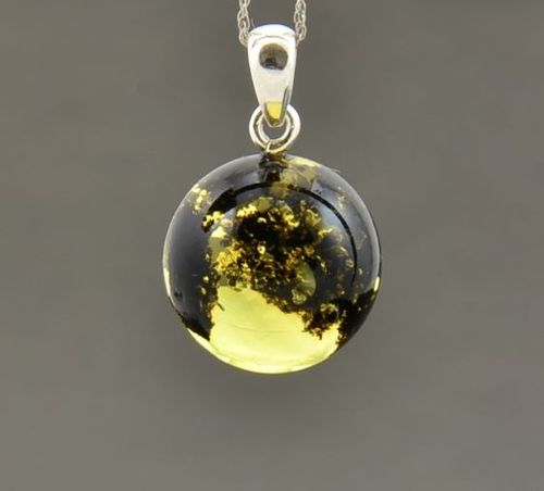 Amber Pendant Made of Amazing Healing Baltic Amber