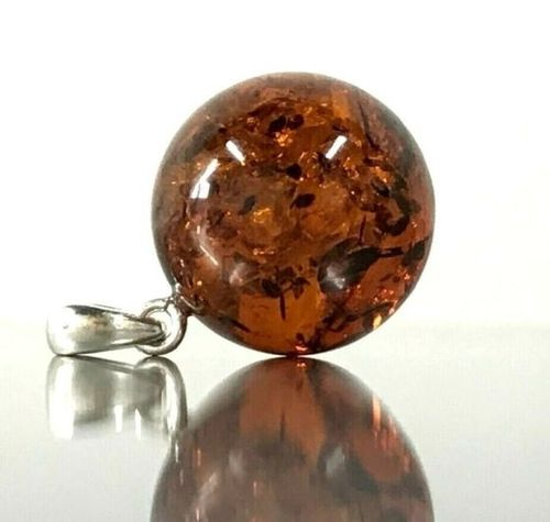 Baltic Amber Pendant Made of Cognac Baltic Amber