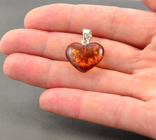 Amber Pendant with Cognac Amber