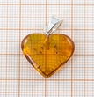 Amber Heart Pendant Made of Precious Healing Baltic Amber