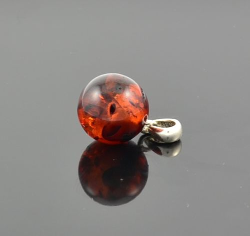 Baltic Amber Pendant With Cognac Baltic Amber