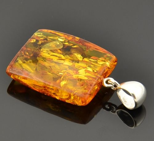 Amber Pendant Made of Precious Healing Baltic Amber