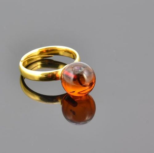 Amber Ring Made of Precious Healing Baltic Amber