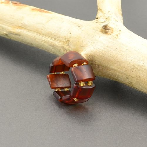 Amber Stretch Ring Made of Healing Baltic Amber