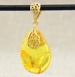 Amber Teardrop Pendant with Baltic Amber
