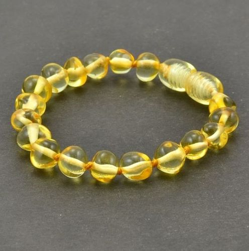 Amber Teething Bracelet Made of Amazing Healing Baltic Amber