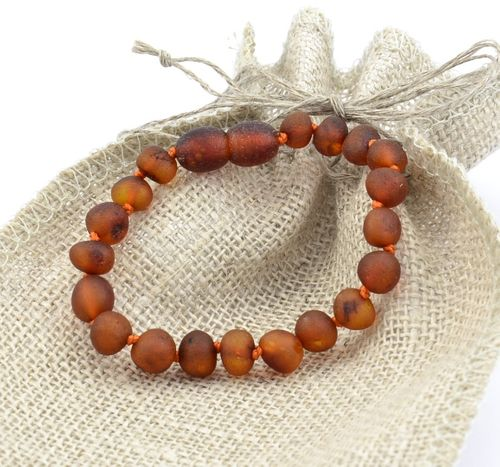 Raw Amber Teething Bracelet