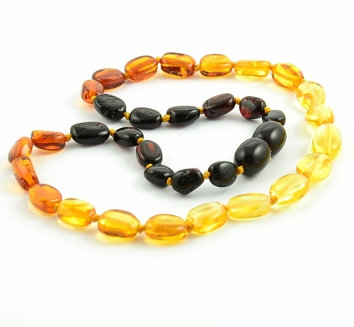 Rainbow Amber Teething Necklace made of Baltic Amber