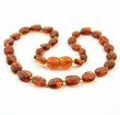Amber Teething Necklace Made of Cognac Healing Baltic Amber