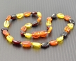 Amber Teething Necklace Made of Multicolor Healing Baltic Amber