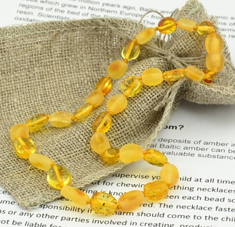 Amber Teething Necklace Made of Baltic Amber