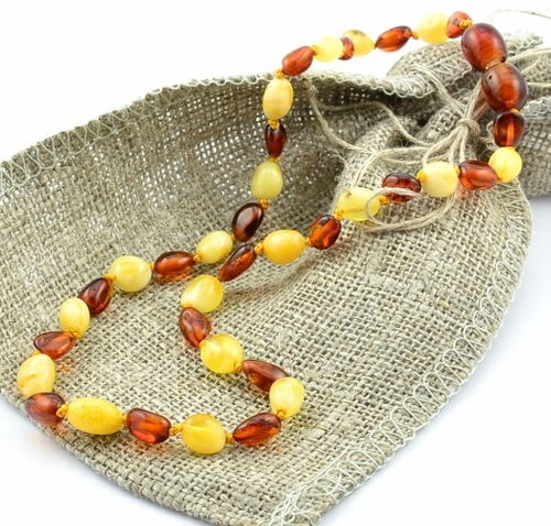 Baltic Amber Teething Necklace - 13 inches long