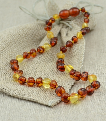 Amber Teething Necklace made of Baroque Baltic Amber