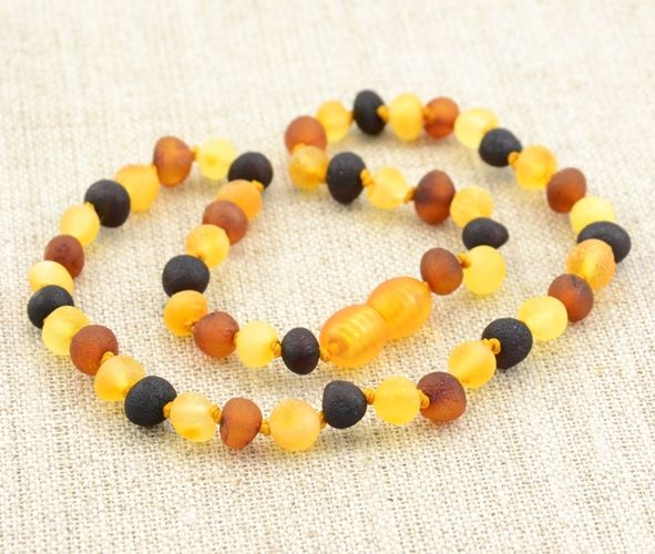 Raw Amber Teething Necklace Made Of Baroque Baltic Amber