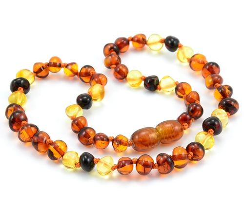 Amber Teething Necklace Made of of Baroque Baltic Amber