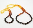 Rainbow amber teething necklace with perfect companion for Mom - SOLD OUT