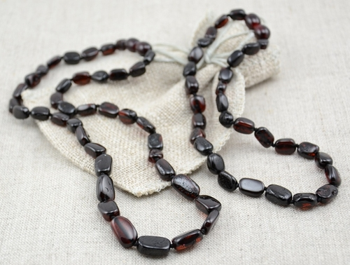 Cherry amber teething necklace with perfect companion for Mom - SOLD OUT