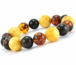 Amber Bracelet with Multicolore Baltic Amber Beads