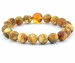 Amber Bracelet with Light Marbel Baltic Amber