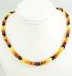 Amber Necklace Made of Overlapping Healing Baltic Amber Pieces
