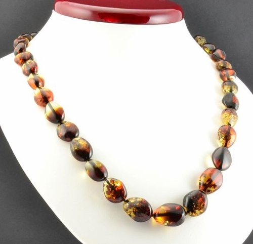 Amber Necklace Made of Precious Healing Baltic Amber