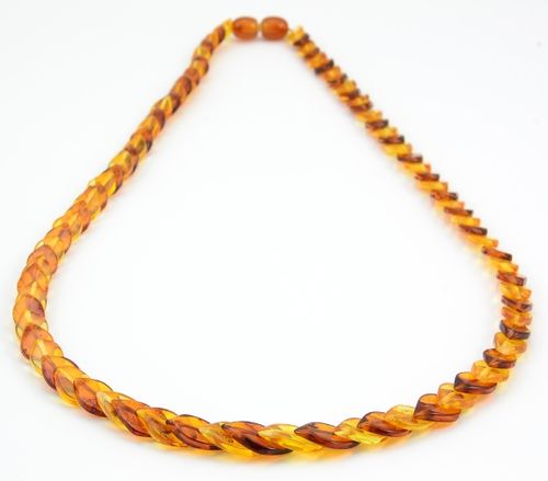 Amber Necklace Made of Healing Overlapping Baltic Amber Pieces