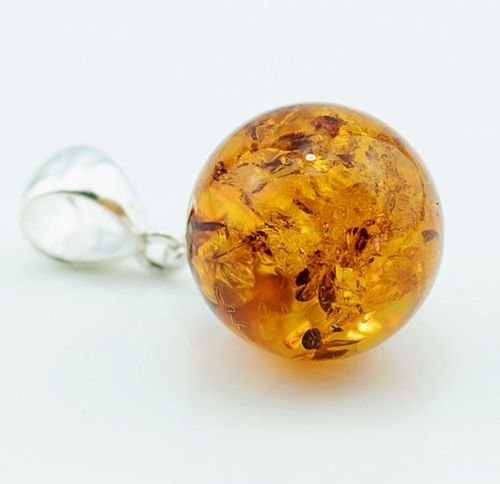 Amber Pendant Made of Made of Light Cognac Baltic Amber