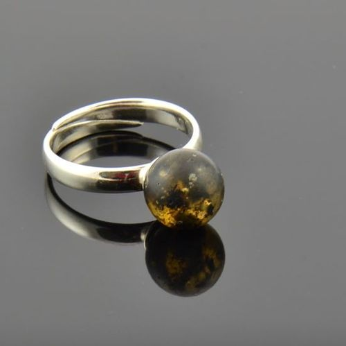 Amber Ring Made of Matte Baltic Amber