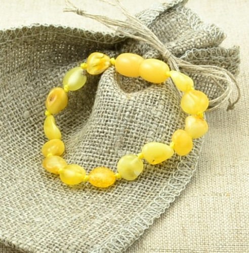 Baltic amber teething bracelet - SOLD OUT