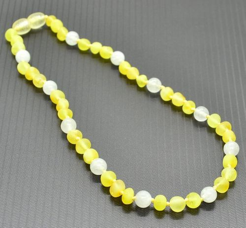 Baltic Amber Teething Necklace made of Amber and Opalite